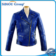 japanese lambskin mens blue motorcycle leather jackets