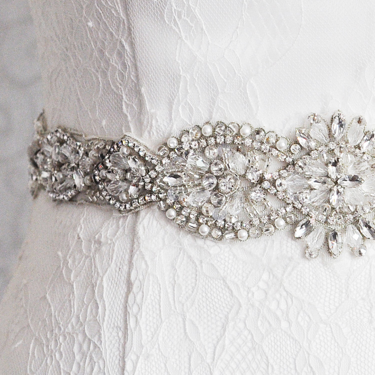 Shimmering Crystal Bridal Bridesmaid Sash Belt Burst Wedding Special Occasion Dresses Belt Rhinestone Women Waistband