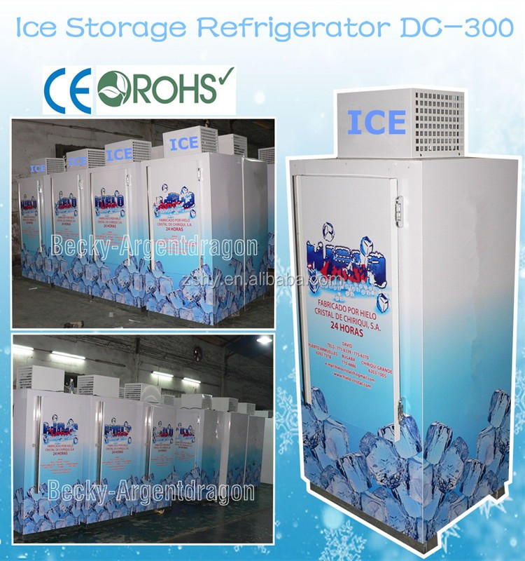 Outdoor ice storage refrigerator DC-300 with single solid door