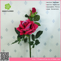 Foshan Qihao artificial flower Rose with curling flowers for wedding arrangement