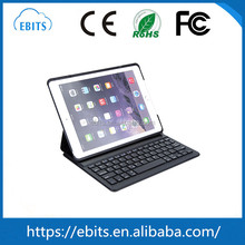 Flexible cheapest PU leather & ABS plastic wireless leather bluetooth3.0 folding keyboard for Ipad air