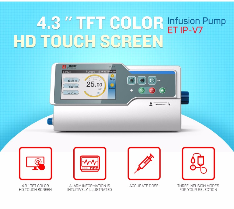 IP-v7 infusion pump portable automatic High-end Infusion Pump