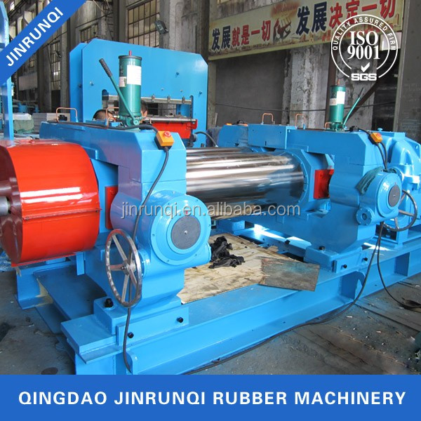 single shaft driving bearing rolls rubber open mixing mill machine