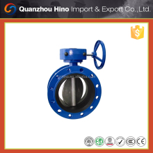 High pressure grooved actuated butterfly valve for sanitary