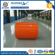 Huijin color coated corrugated sheet ppgi ppgl gi steel coil