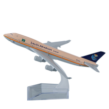 16cm Alloy Metal Air <strong>Saudi</strong> Arabia Airlines Airplane Model Boeing 747 Airways Plane Model w Stand Aircraft Toy <strong>Gift</strong>