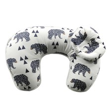 100% cotton multi-function baby feeding pillow U-shape baby nursing pillow and positioner