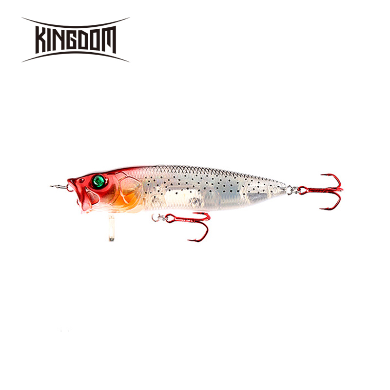 Kingdom 70mm 9.5g,90mm 16g 110mm 33g Popper Hard Plastic Fishing Lures ABS Lure