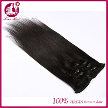 cheap 7a virgin brazilian straight clip in human hair extensions for black women remy human hair clip on weave color 1b black