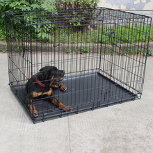 New arrival large steel dog cage/large crate with wheels