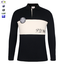 Wholesale Fashion Long Sleeve Polo Shirt 100% Cotton