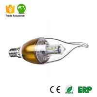 New led product candle light with tail for chandelier