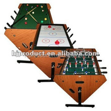 Factory direct sale 3 in 1 rotating game table multifunction air hockey pool table , baby foot table