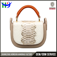 trending hot products top handle snake pattern leather women handbag
