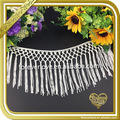 Wholesale white tassel fringe trimming for garment or dress FT001