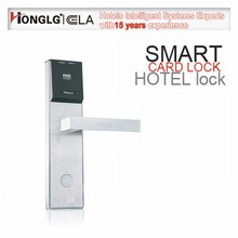 Electronic Door Opening System Replacing Magnetic Hotel Card Key Lock System