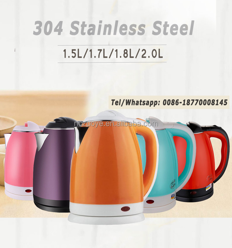 2017 Turkish Job Lot Stainless 1.8L Cordless Tea Kettle For Sale