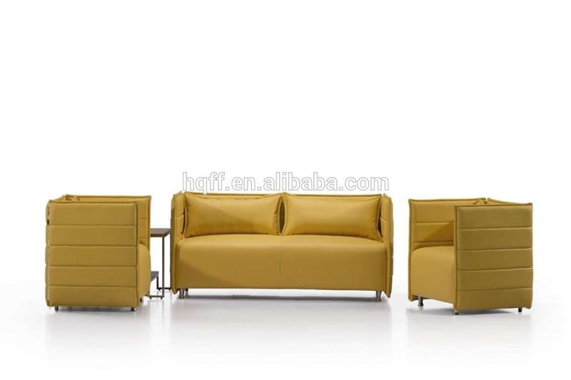 Brand new leather sectional sofa with headrest with high quality