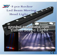 8*10W RGBW 4 in 1 Marquee Effect Moving Led Linaer Rocker Beam Dj Stage Lighting Head