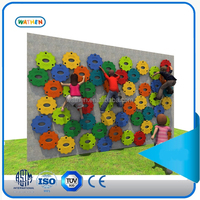 2015 colorful sunflower rock climbing walls with new intresting design