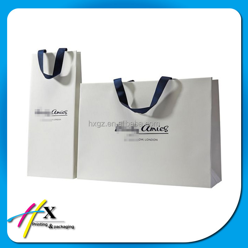 2016 customer's own logo printing luxury high quality paper store bag shopping bag