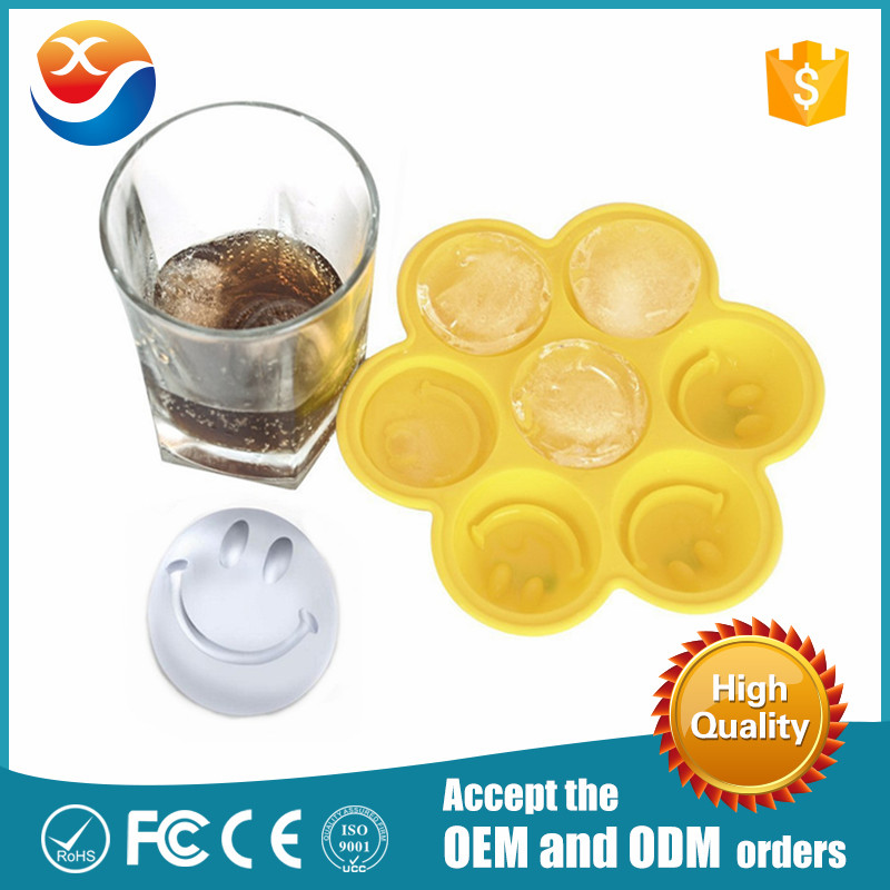 Custom Smile Face Fancy silicone ice cube Trays