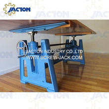 Jacton Vintage Cast Iron Industrial Crank Adjustable Table Desk Base <strong>Furniture</strong> with Manual Hand Crank Screw Jack