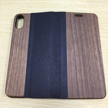 New Wallet Leather Flip Stand Wood Grain Case for Samsung Note8 with stand, cell phone covers