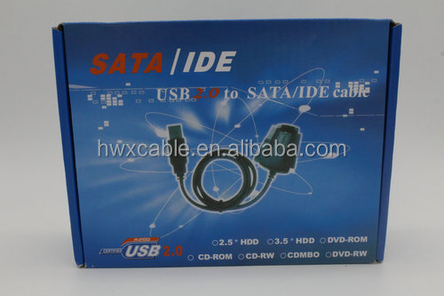 High Quality USB 2.0 to SATA & IDE Adapter Cable 3.5 & 2.5 50CM ONE SET