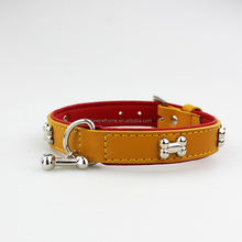 Best selling Products Led Dog Collars Studded Leather Bone Pet Collar Necklace Dog Products