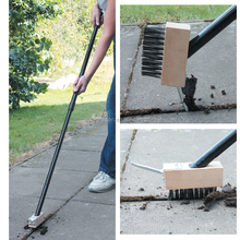 Patio paving weed removal cleaner broom with 0.8m long handle