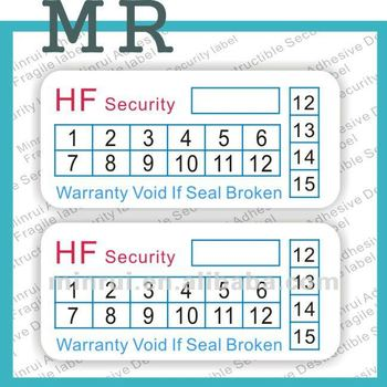 Warranty Label Stickers Date Warranty Sticker Buy Custom