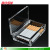 Wholesale transparent high-grade acrylic cigarette smoking man plastic box