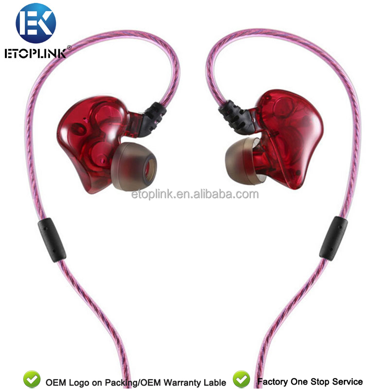 ETOPLINK DUAL <strong>U1</strong> Wide Frequency HiFi Dual Loop Dynamic Dual Chamber In-Ear Earphones Fever Level Sounds Aroma Earplugs with Mic