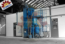 descaling steel Mechanical Automatic Sand Blasting and Spray Painting Booth/Room/Chamber/Equipment
