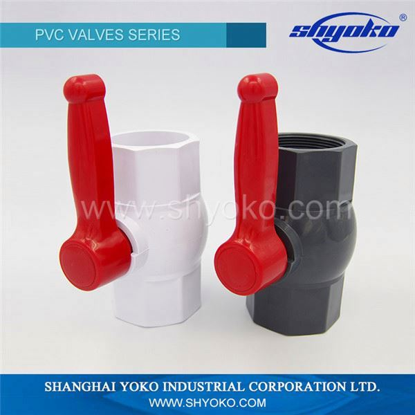 High performance gray pvc ball valve