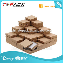 Square decorative packaging design corrugated cardboard storage boxes with lids for moving
