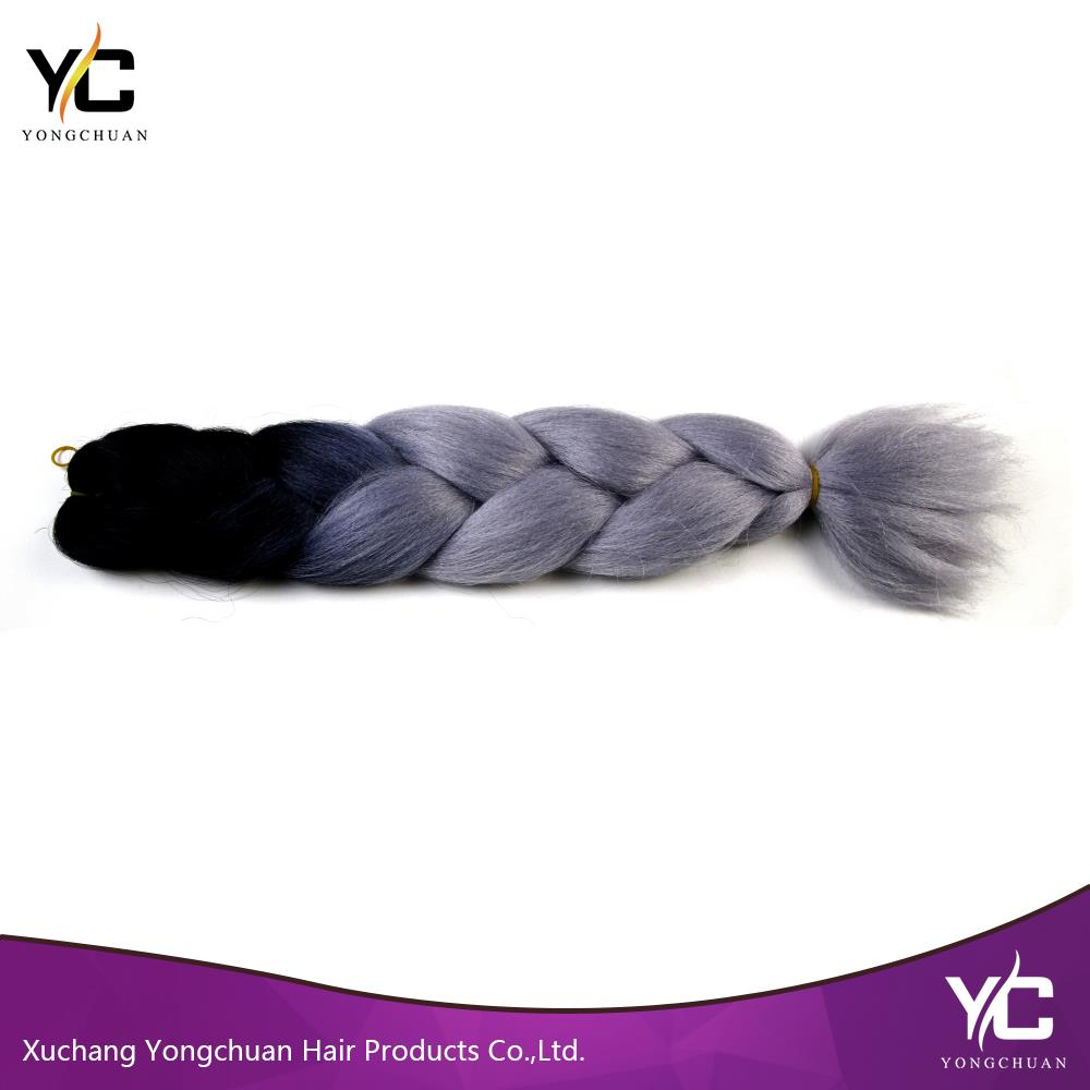 factory supplying Japanese synthetic fiber jumbo braid hair, ultra braid hair with various colors
