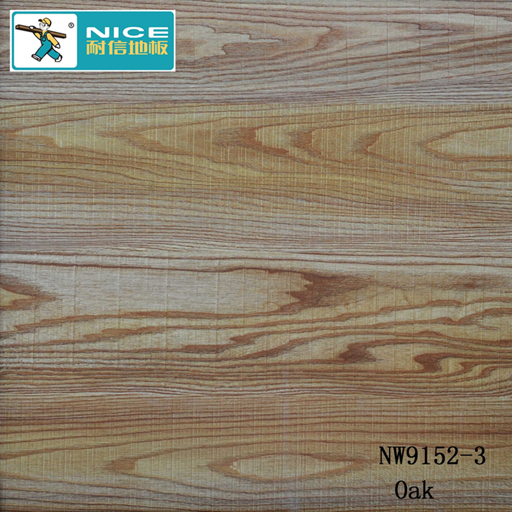 Normal groove HDF core engineered OAK wood flooring