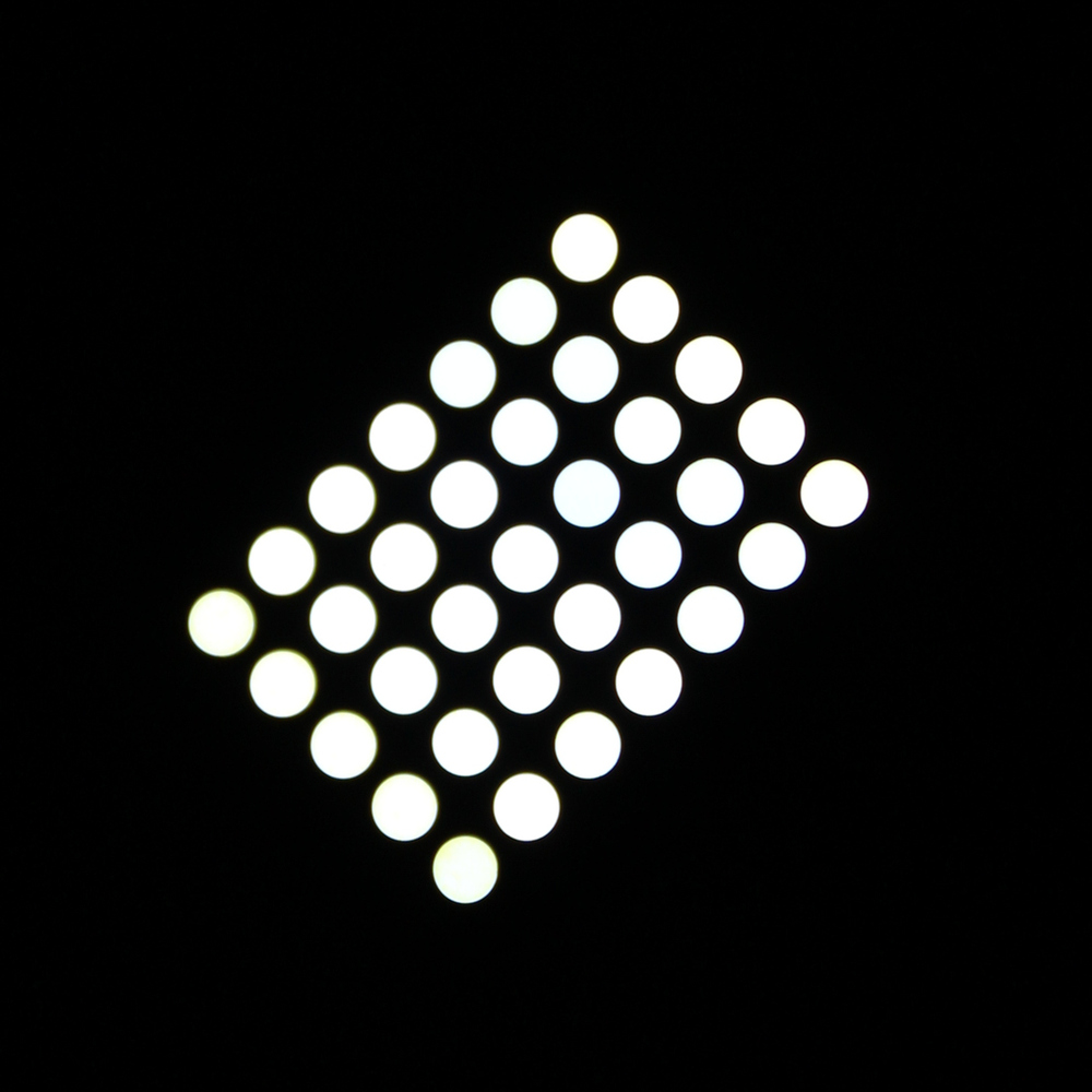 miniature 5x7 led dot matrix display 3mm mini size led matrix display