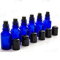 30ml 1oz Blue Essential Oil Roll On Bottle With Metal Roller And Plastic Cap