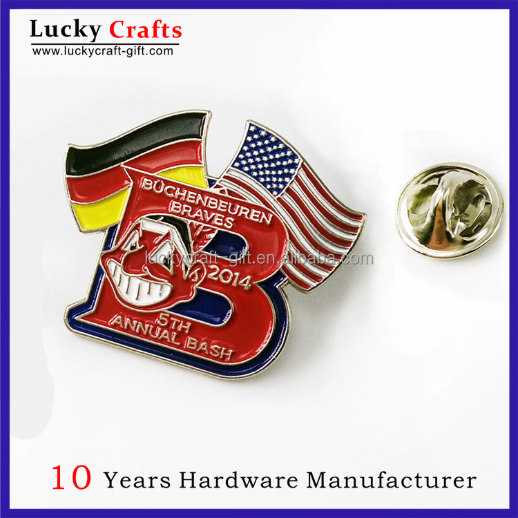 Wholesale custom fashion soft enamel country flags lapel pins with butterfly clutch no minimum