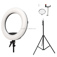 "Pink FD-480II 18"" Dimmable LED Ring lamp 480 LED Studio Video Light Lamp Photographic Light+ bag for outdoor shooting"