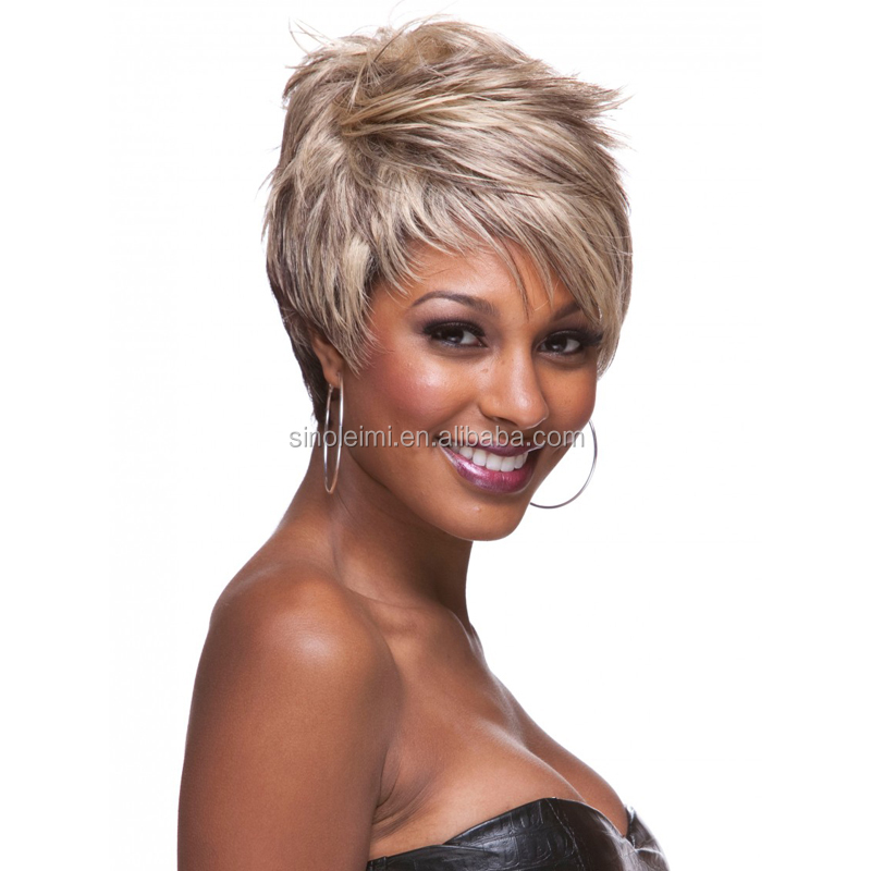 grey fashion synthetic short wigs for black women