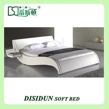 King size customized round leather bed frames DS-1016