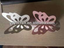 wedding decoration paper crafts laser cut butterfly desigh napkin rings for wedding party decoration from YOYO crafts