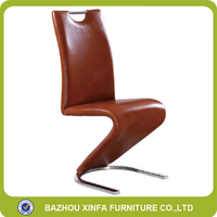 Luxury strong S shape PU leather chairs used for office or hotel