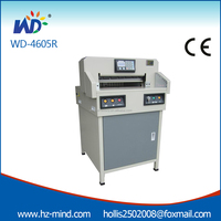 Chine fabricant Professionnel petit massicot machine WD-4606R Programmable 18 pouce coupe-papier guillotine