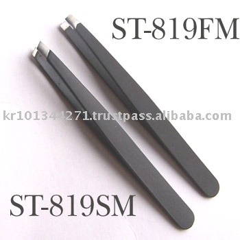 Tweezers, stainless steel with black matted finished