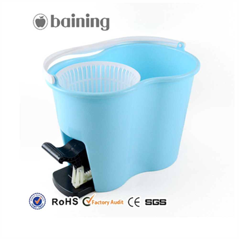 Microfiber and PP Material Floor 360 Spin Plastic Mop Bucket